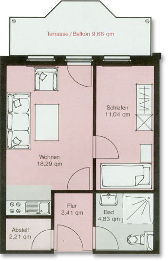 die wohnungen heidberg domizil. Black Bedroom Furniture Sets. Home Design Ideas